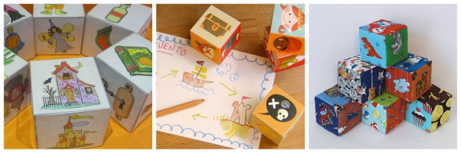 Actividad infantil creativa: Story cubes DIY inventar historias