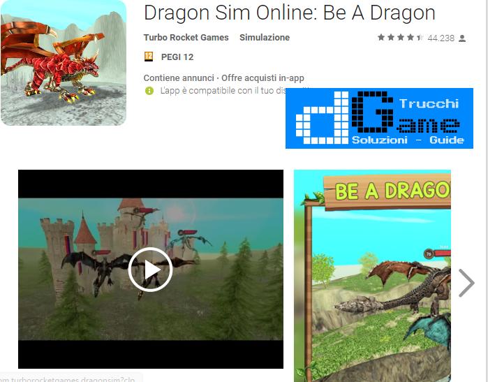Trucchi Dragon Sim Online: Be A Dragon Mod Apk Android v4.3