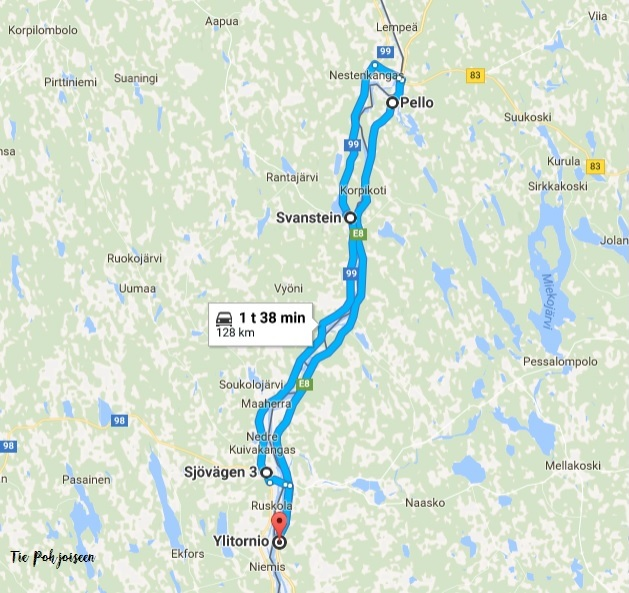 Paivareissu Ruotsin Rajalla Suuntana Napapiiri