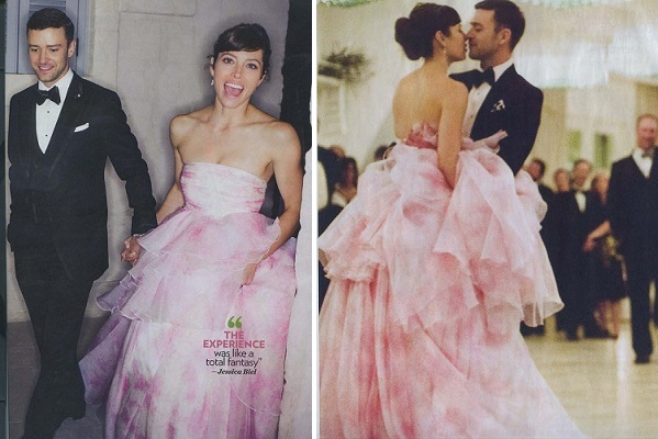 Pink Wedding Gown: Mary Me Bridal Blog: Here Comes The Bride, All Dressed In