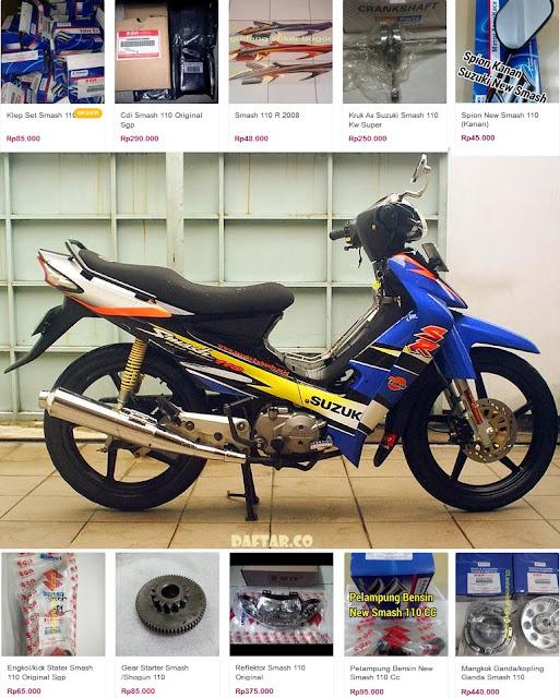 Modif Motor Smash 2004 : modif, motor, smash, Daftar, Harga, Spare, Suzuki, Smash
