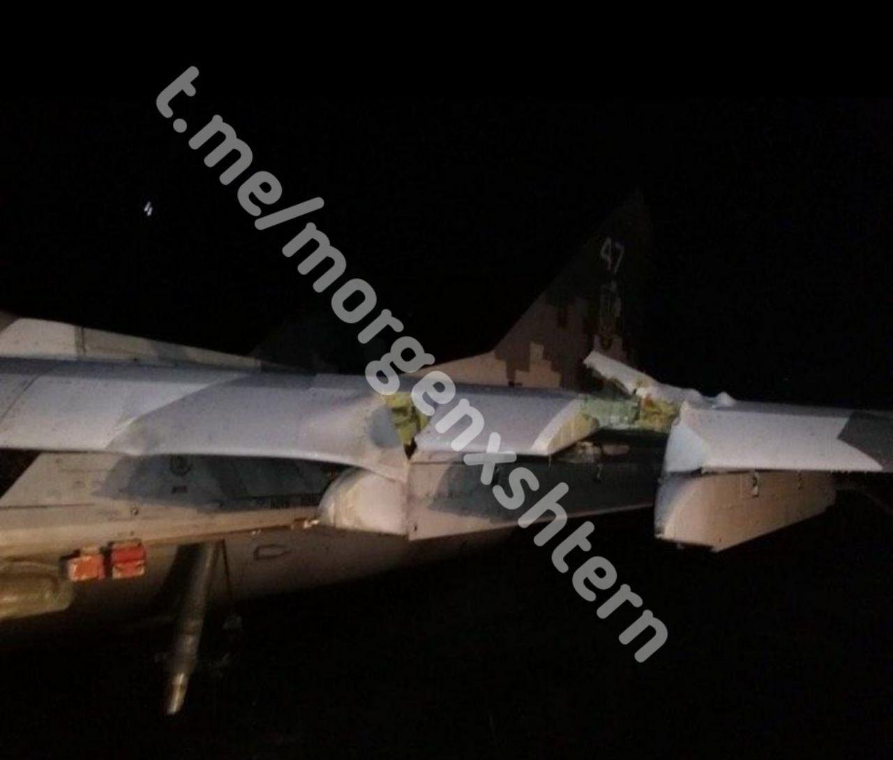 У Мелітополі здійснив аварійну посадку МіГ-29