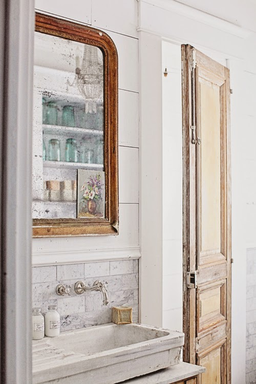 French Inspired Bathroom Blue And Green: Dreamy Whites: French Inspired Bathroom Remodel, Carrera