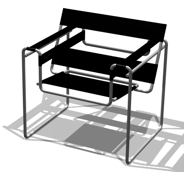 birg n bir yerde modern tasar m wassily sandalyesi. Black Bedroom Furniture Sets. Home Design Ideas