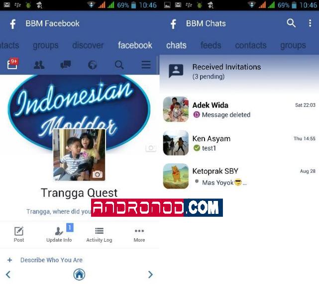 Download Lagu Thanks You Next: BBM Mod FBUI (Facebook) V3.0.1.25 Apk