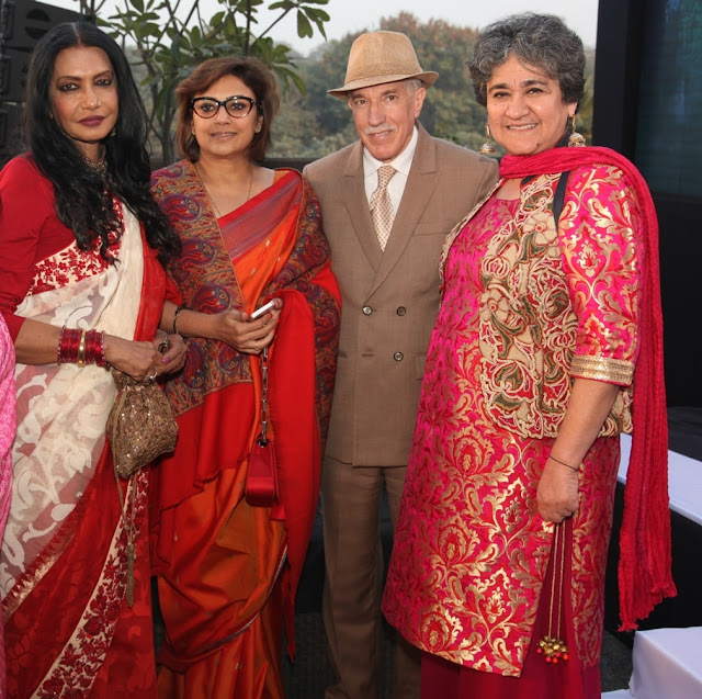 Anjanna Kuthiala, Sumi Gupta along with the ambassador and Ratan Kaul