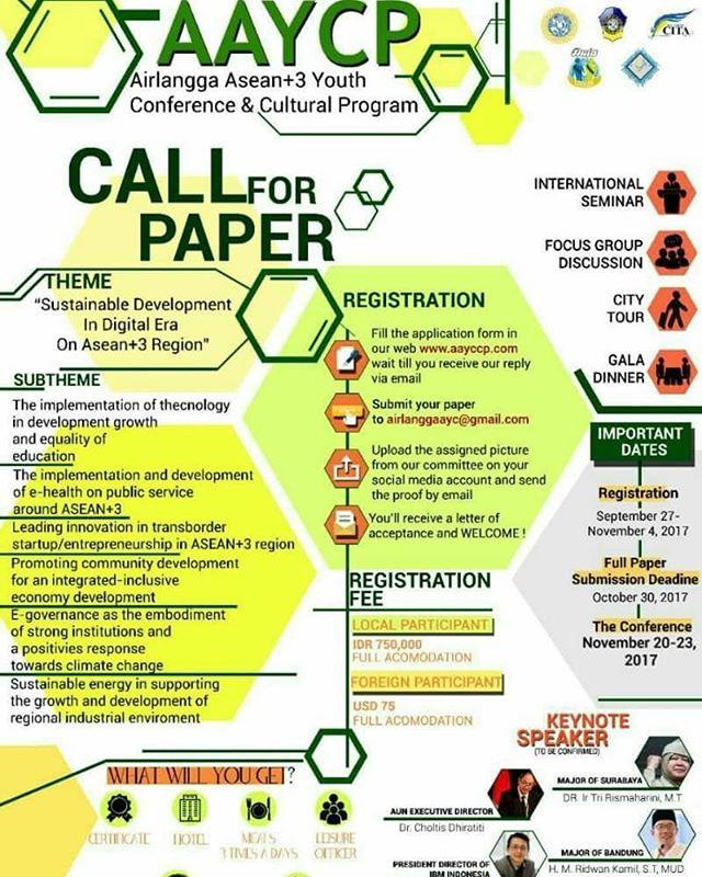 Airlangga ASEAN+3 Youth Conference & Cultural Proram | Univ. Airlangga | Umum