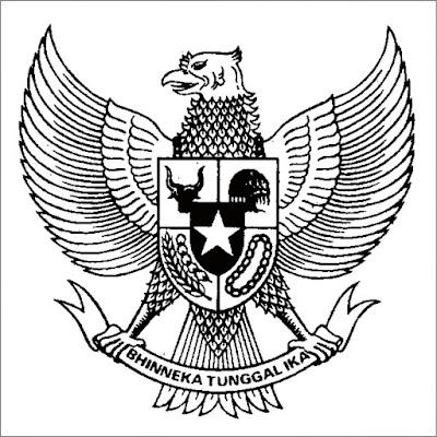Contoh Gambar Burung Garuda Untuk Mewarnai Kataucap