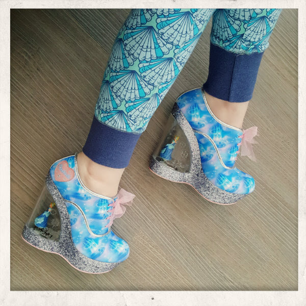 wearing irregular choice cinderella call me cinders shoes