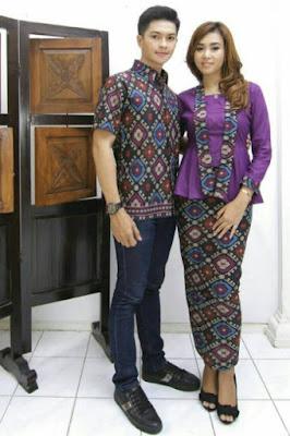 model baju batik couple pasangan anak muda