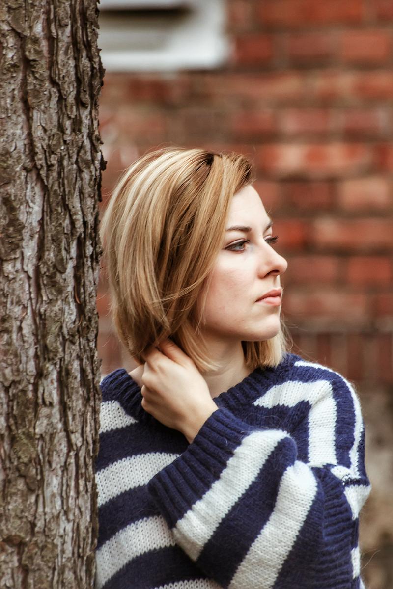 sweter oversize w paski