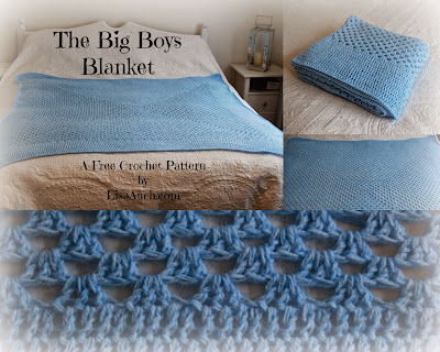 Free Crochet Pattern Babys blanket easy crochet pattern