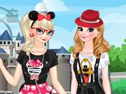 Frozen Sisters in Disneyland