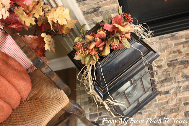 Candle-Lantern-French- Country -Fall -Mantel- From My Front Porch To Yours