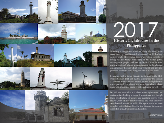 The 2017 LakbayLoyd's Lighthouse Collection Desk Calendar