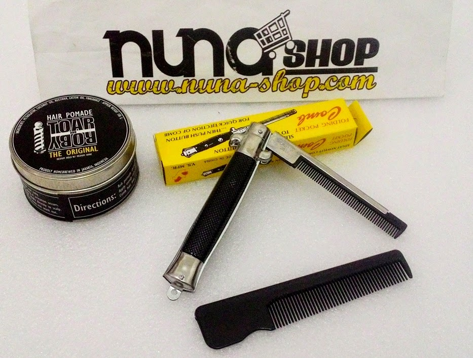 Paket Hemat Pomade Toar And Roby The Original + Switchblade Comb