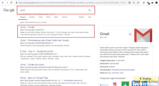 Cara Mudah Masuk Akun Email Google - Cintanetworking.com