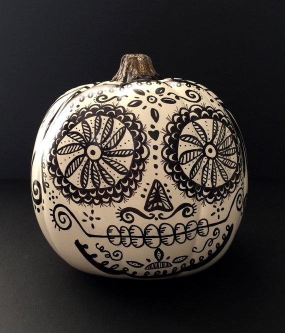 The Painted Bead Blog: Painted Dia De Los Muertos PUMPKINS!