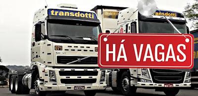 transportadora transdotti com vagas