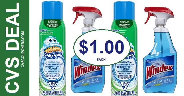 CVS Scrubbing Bubbles & Windex Deal