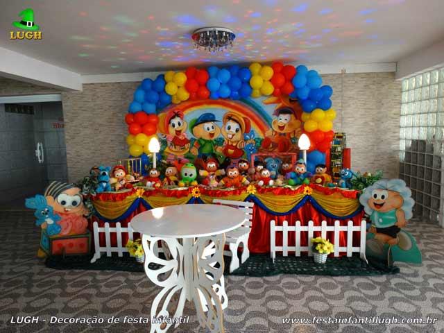Decoração de aniversário tema Turma da Mônica para festa infantil feminina
