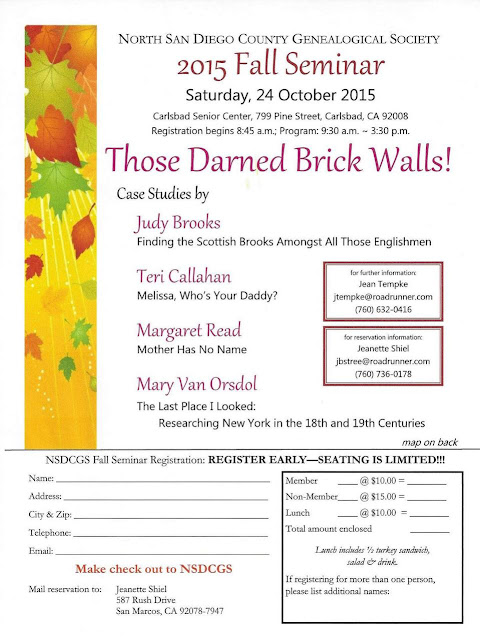 NSDCGS 2015 Fall Seminar - Those Darn Brick Walls!