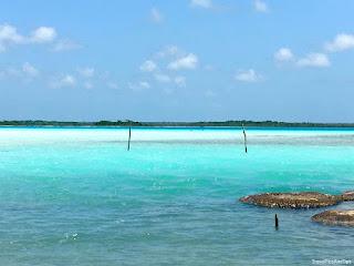 Bacalar, lagune, Cocalitos, Yucatan, Mexique