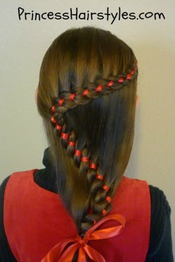 snake braid with ribbon