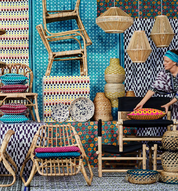 ikea launches jassa rattan textiles collection poppytalk. Black Bedroom Furniture Sets. Home Design Ideas