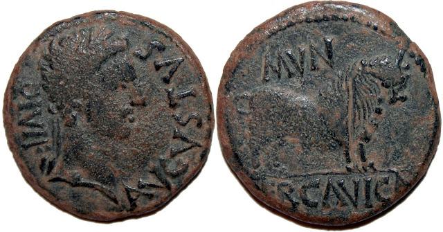 Monedas de la ciudad romana de Ercávica 004