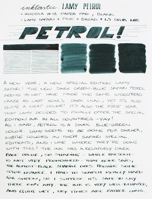 Inktastic: Lamy Petrol special edition ink review