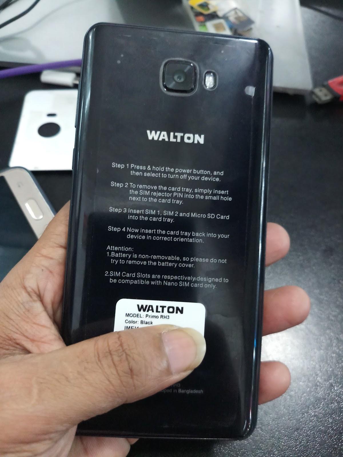 WALTON PRIMO RH3 NOUGAT 7 0 MT6735m (DEAD BOOT RECOVER FRP