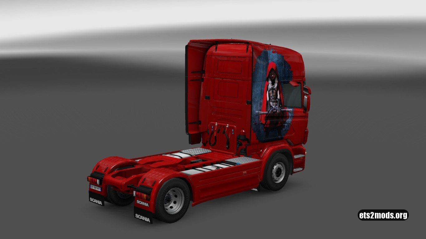 Scania RJL Czerwony Kapturek Skin