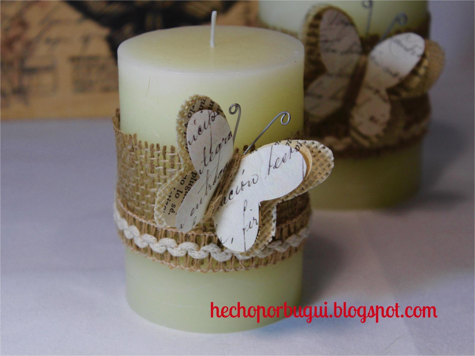 Como Adornar Una Vela Centros De Mesa De Navidad Con Velas Como - Como-decorar-una-vela