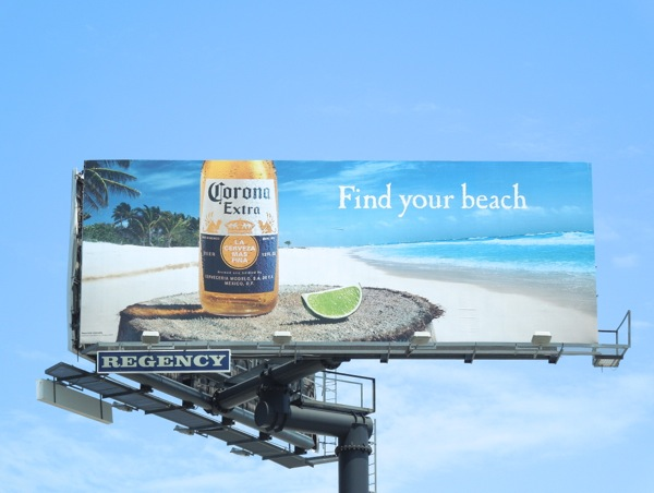 Corona Extra Find your beach billboard