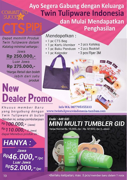CTS PiPi Oktober 2017, New Dealer Promo, Mini Multi Tumbler GID