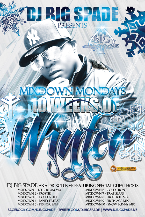 DJ Big Spade Winter Mixtape series Poster and Flyer Design