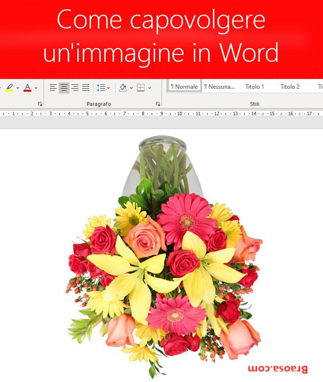 Come capovolgere e riflettere un'immagine in Word