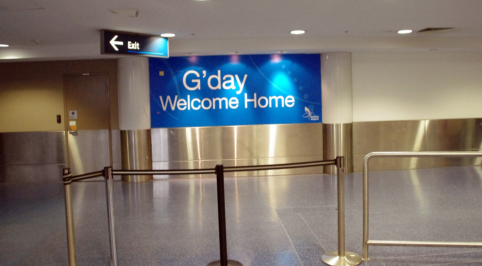 G'day welcome home at Sydney Airport