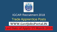 Indira Gandhi Centre for Atomic Research Recruitment 2018– 300 Trade Apprentices
