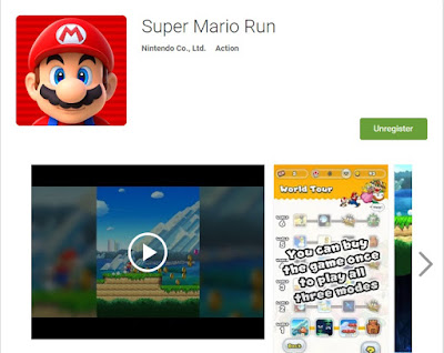 Super Mario Run on PlayStore