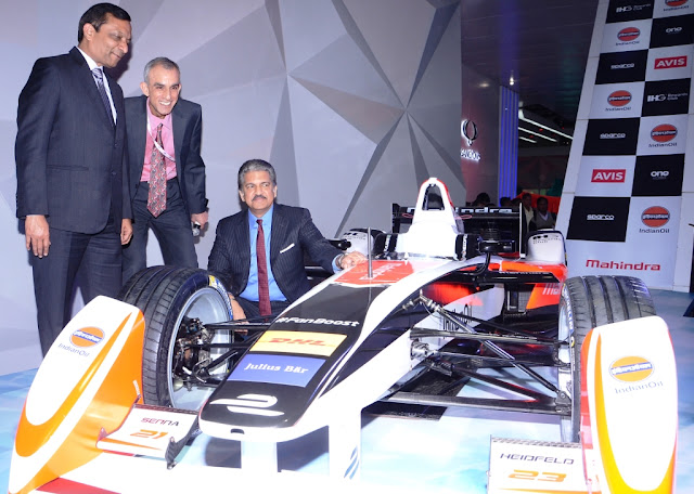 Mahindra Racing's Formula E race car at Auto Expo 2016
