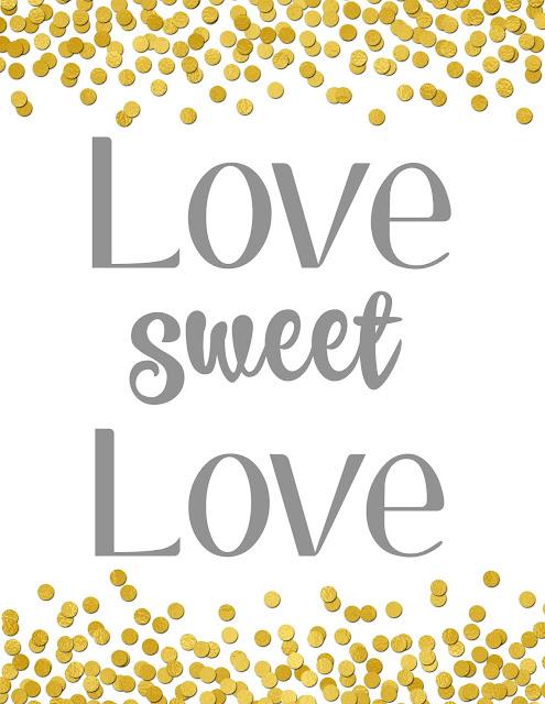 Free Valentine's Day Printable, Love Sweet Love