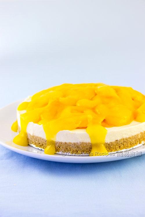 芒果芝士蛋糕【派對甜品】 Mango Cheesecake   簡易食譜 - 基絲汀: 中西各式家常菜譜