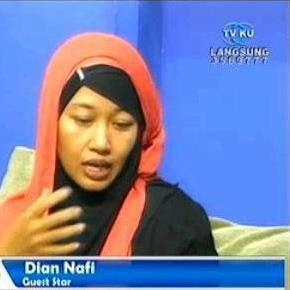 dian nafi sharing di televisi TVKU