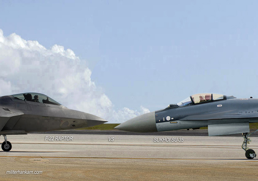 SU-35 VS F-22 Raptor