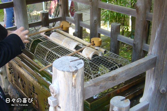 plongée temizuya inari hanazono-jinja