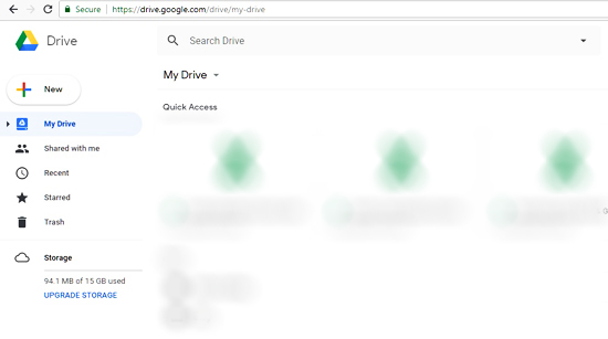 Logged To Google Drive