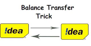 transfer balance from Idea to Idea