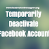 Temporarily Deactivate Facebook Account